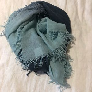 Authentic CHAN LUU dip-dyed cashmere/silk scarf
